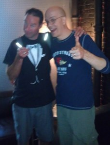 Devin Townsend (right) with Rik Johnson
